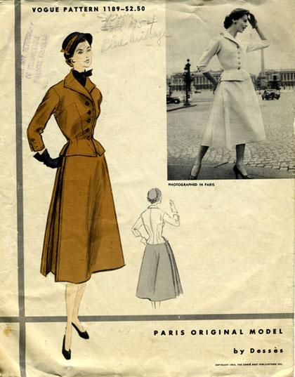 Vogue-Pattern-1953